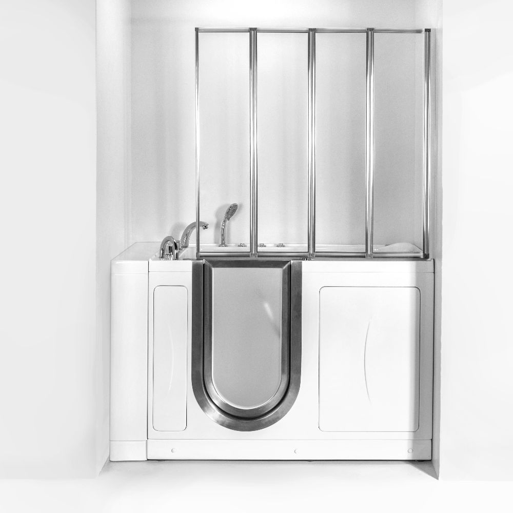Aegis 4 Fold 1 8 Tempered Glass Shower Screen For Walk In